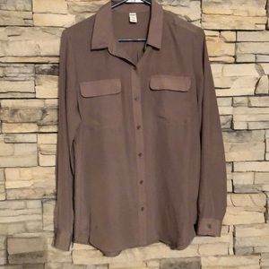 Old Navy Tan Button-Up Blouse